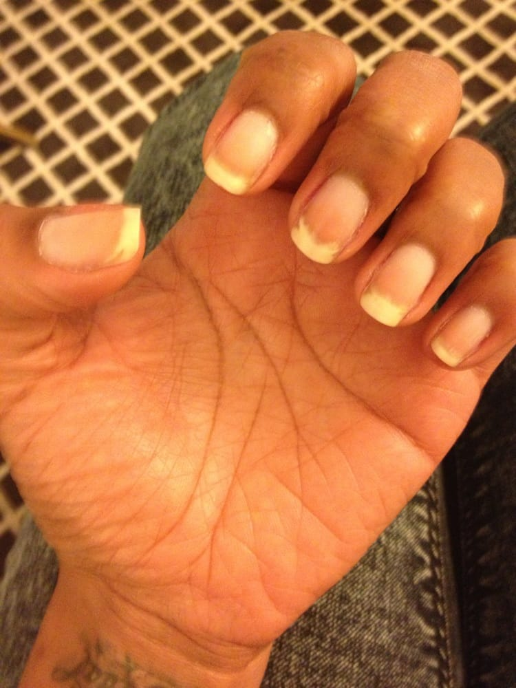 I had Very long nails before I went there and wanted to leave with ...