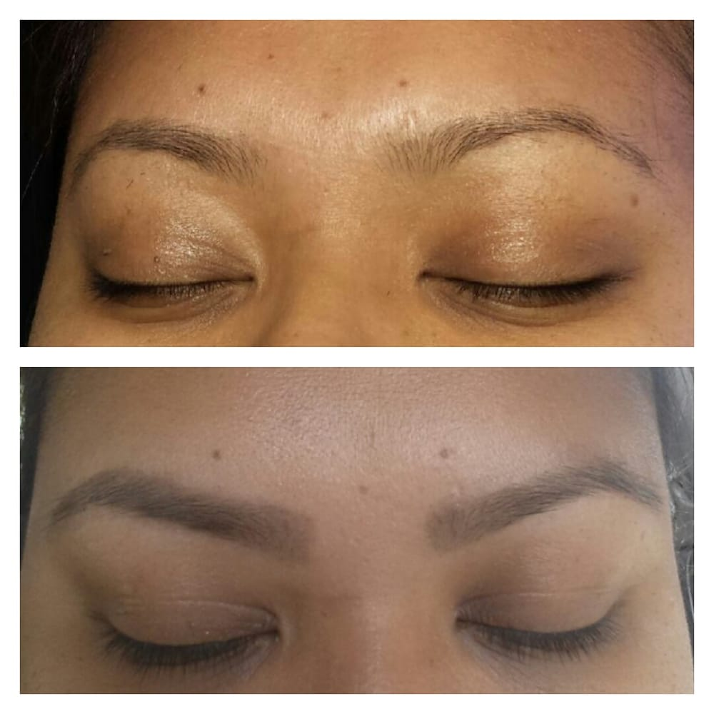 Got My Eyebrows Threaded And Tinted By Raj Before On Top After On