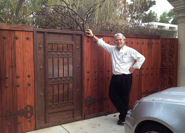 Solid Mahogany Fence Iron And Copper Gate Del Mar 2014