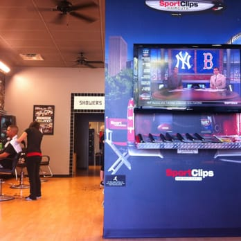 The Sport Clips Haircuts of Mesa Triple Play includes a haircut, steamed towel and massaging scalp shampoo.