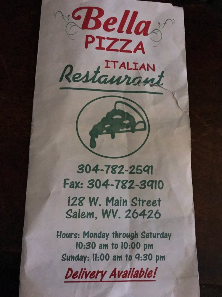Bellas Resturant: 128 W Main St, Salem, WV