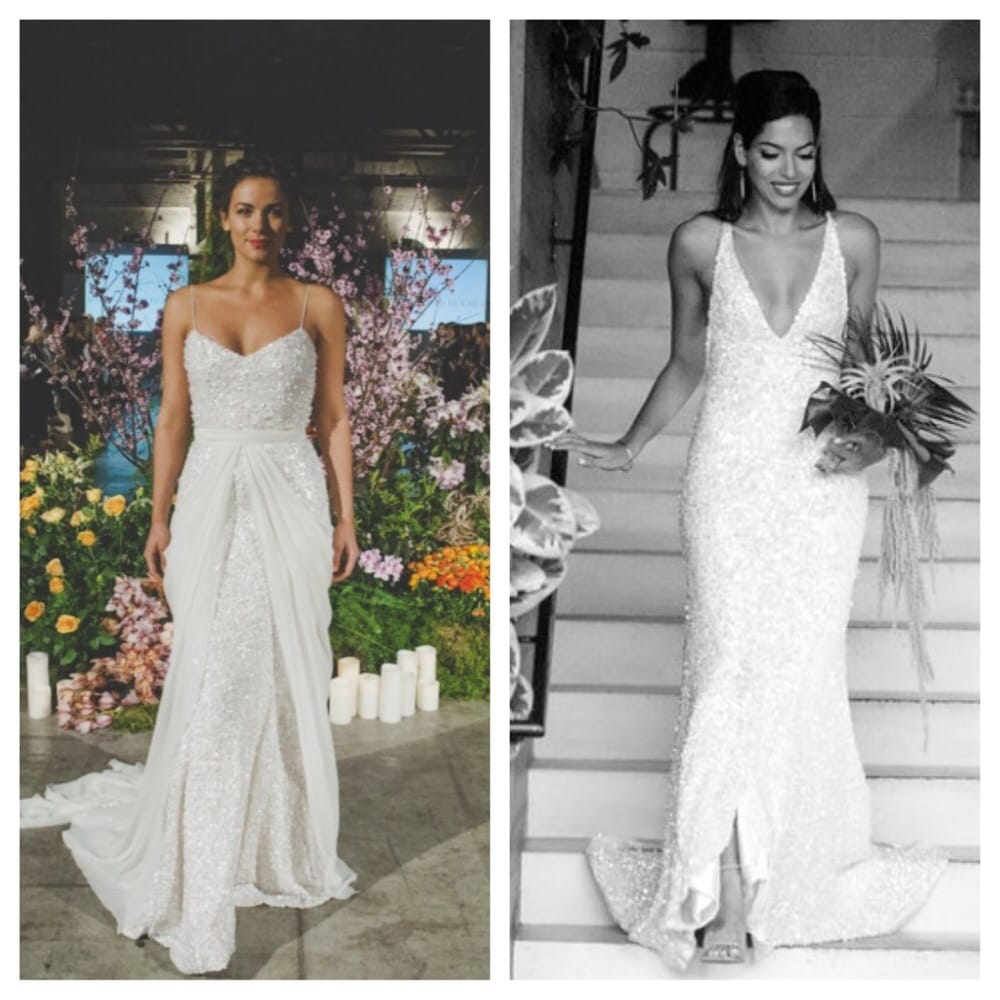 Before and after for my wedding dress carol used the for Places to buy wedding dresses near me