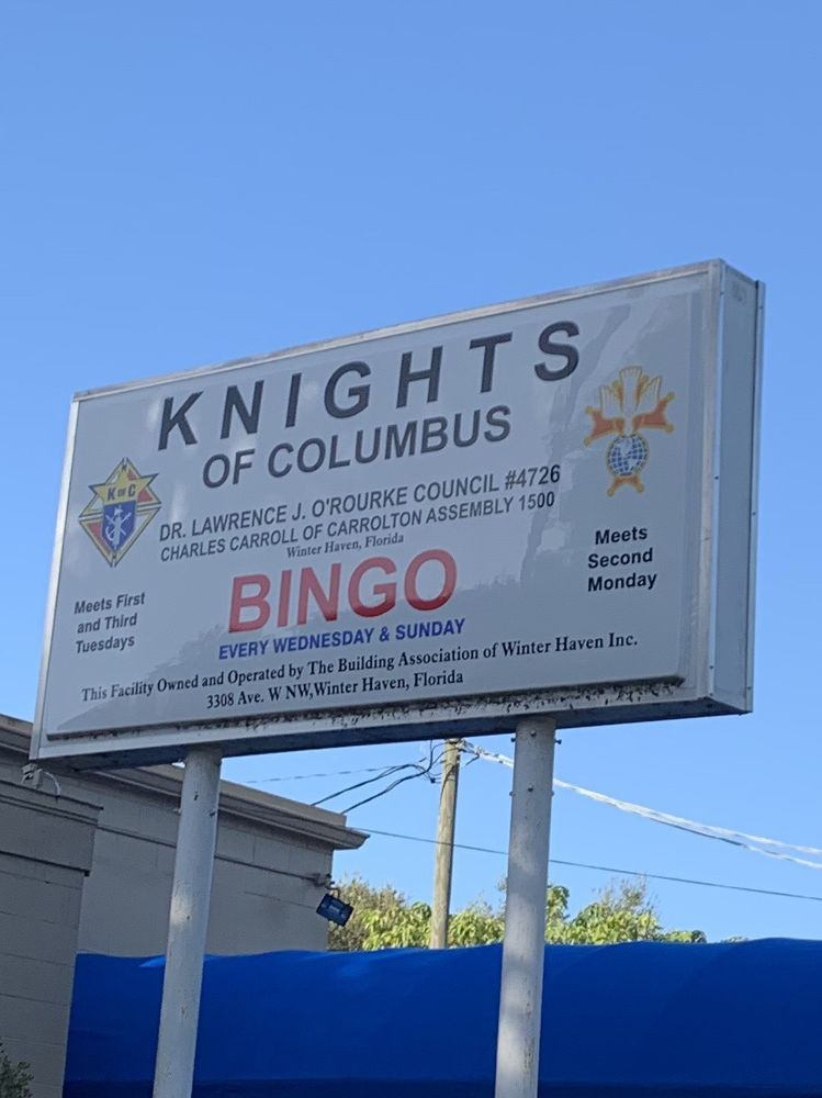 Knights of Columbus Council 4726: 3308 Avenue W NW, Winter Haven, FL