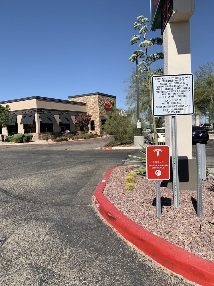 Tesla Supercharger: 2812 Lenwood Rd, Barstow, CA