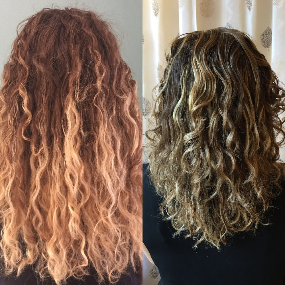 ouidad haircut before and after before and after hair painting and ouidad cut yelp 3698
