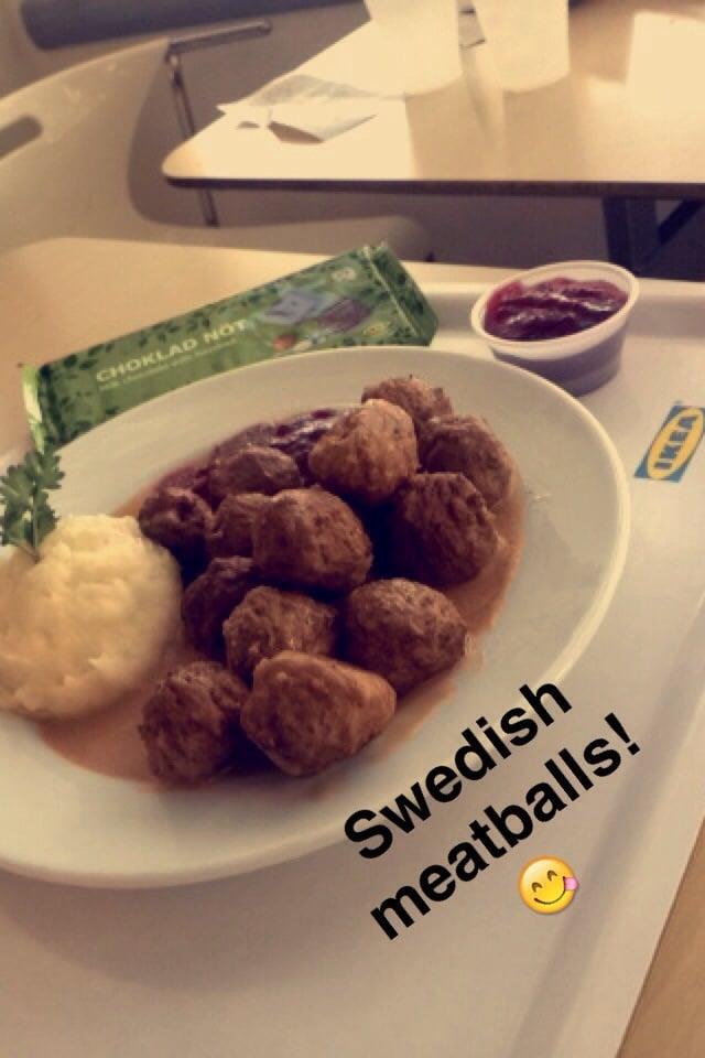 Swedish Meatball Plate Plus Milk Chocolate Hazelnut