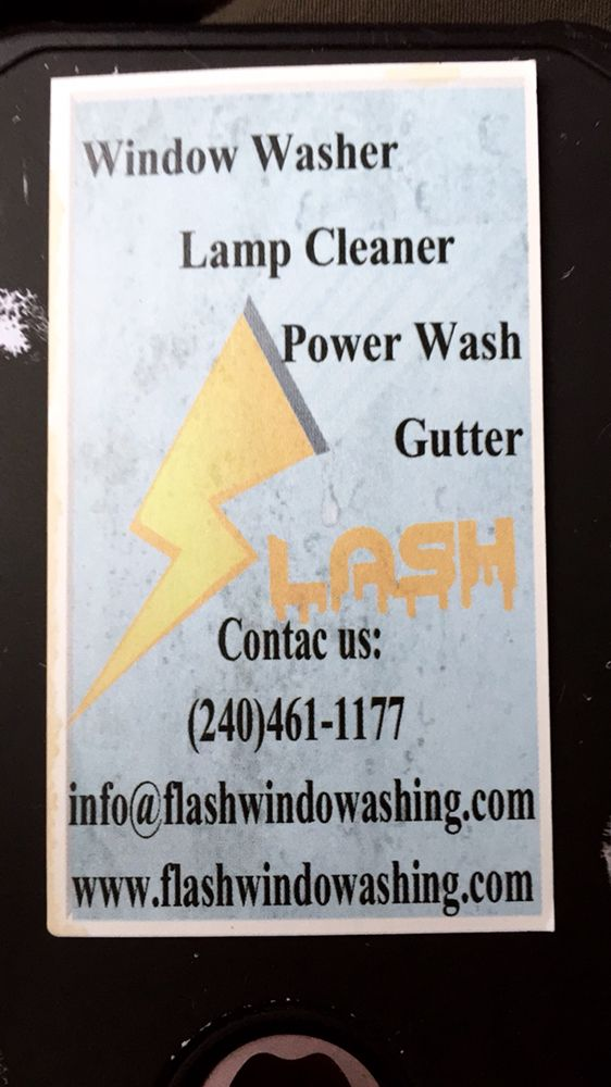 Flash Window Washing Business Card Yelp