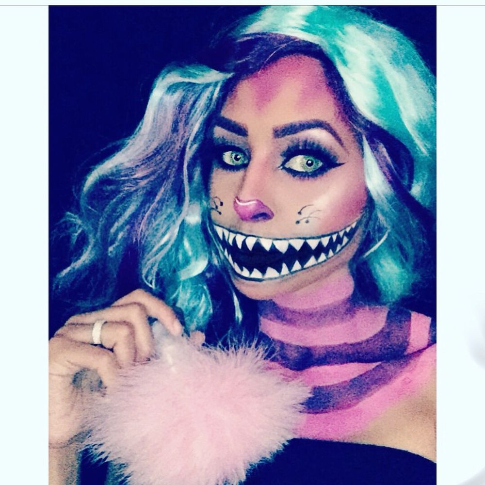 alice in wonderland cheshire cat inspired halloween makeup - yelp