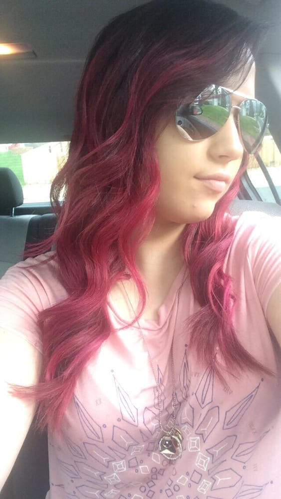 Purple Red And Pink Ombr Hair Color Yelp