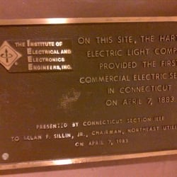 The hartford electric light company marker landmarks historical photo of the hartford electric light company marker hartford ct united states aloadofball Images