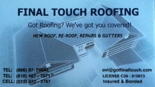 Final Touch Roofing