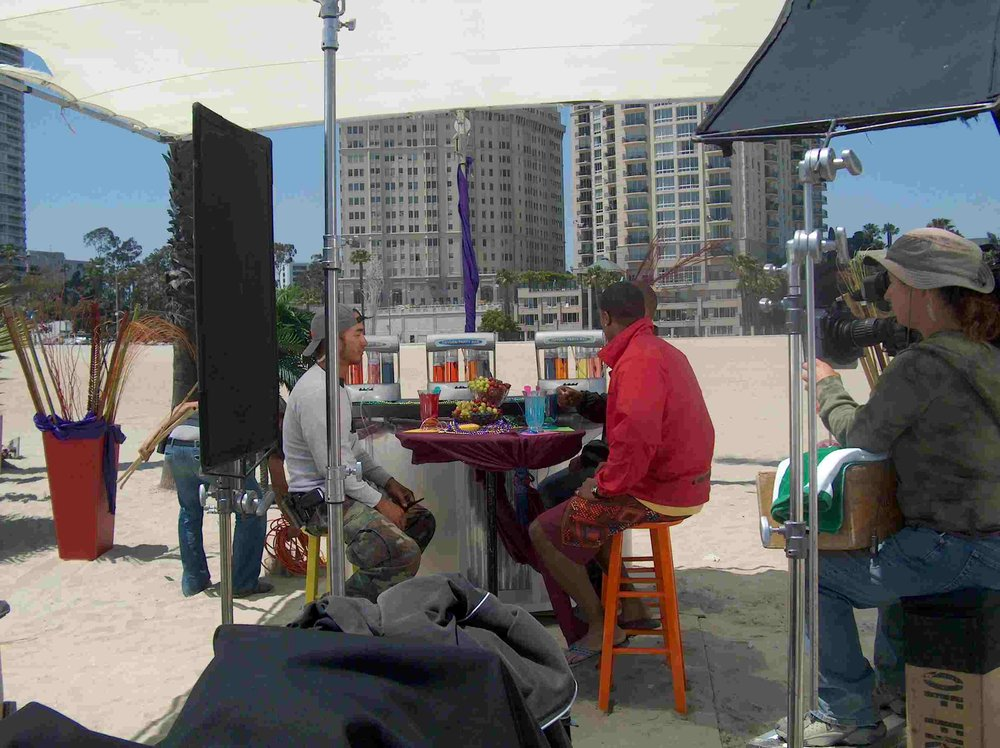 Filming for DisMissed Again TV program on beach in Long Beach - Yelp