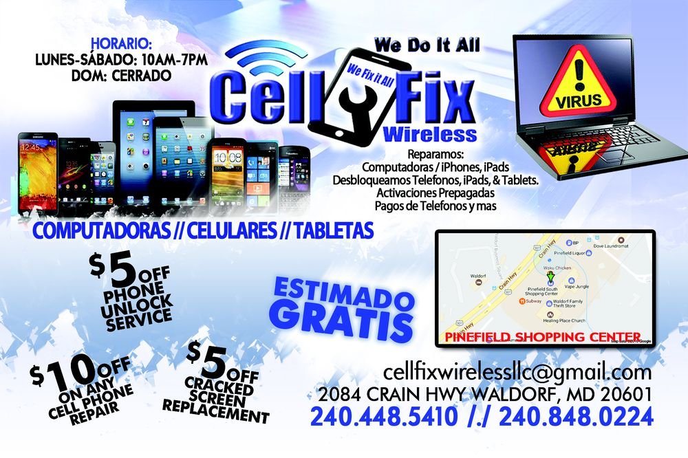 Cell Fix Wireless: 2084 Crain Hwy, Waldorf, MD