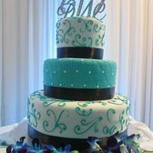 cuban wedding cake toppers tropicana bakery amp cuban caf 233 aqua brown and white 13138