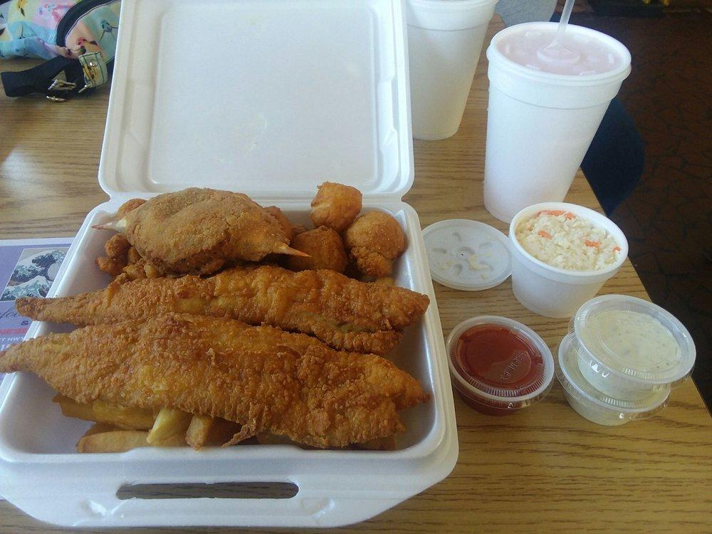 Seafood Express: 531 W Depot St, Angier, NC