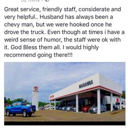 Photo Of Marianna Toyota   Marianna, FL, United States. Customer Review  From Facebook