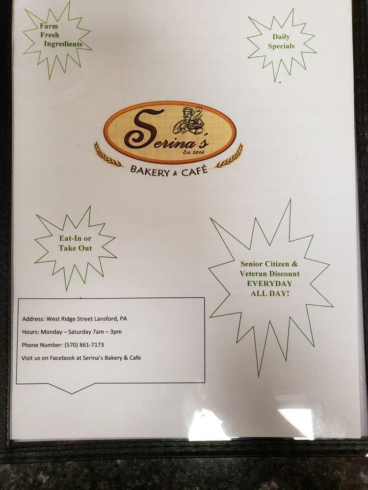 Serina's Bakery & Cafe: 22 West Ridge St, Lansford, PA