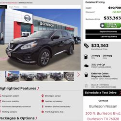 Nissan Of Burleson >> Burleson Nissan Car Dealers 300 N Burleson Blvd Burleson Tx