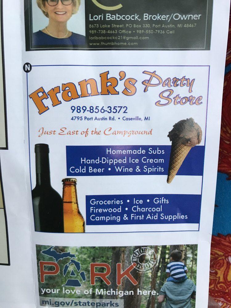 Frank's Party Store: 4795 Port Austin Rd, Caseville, MI