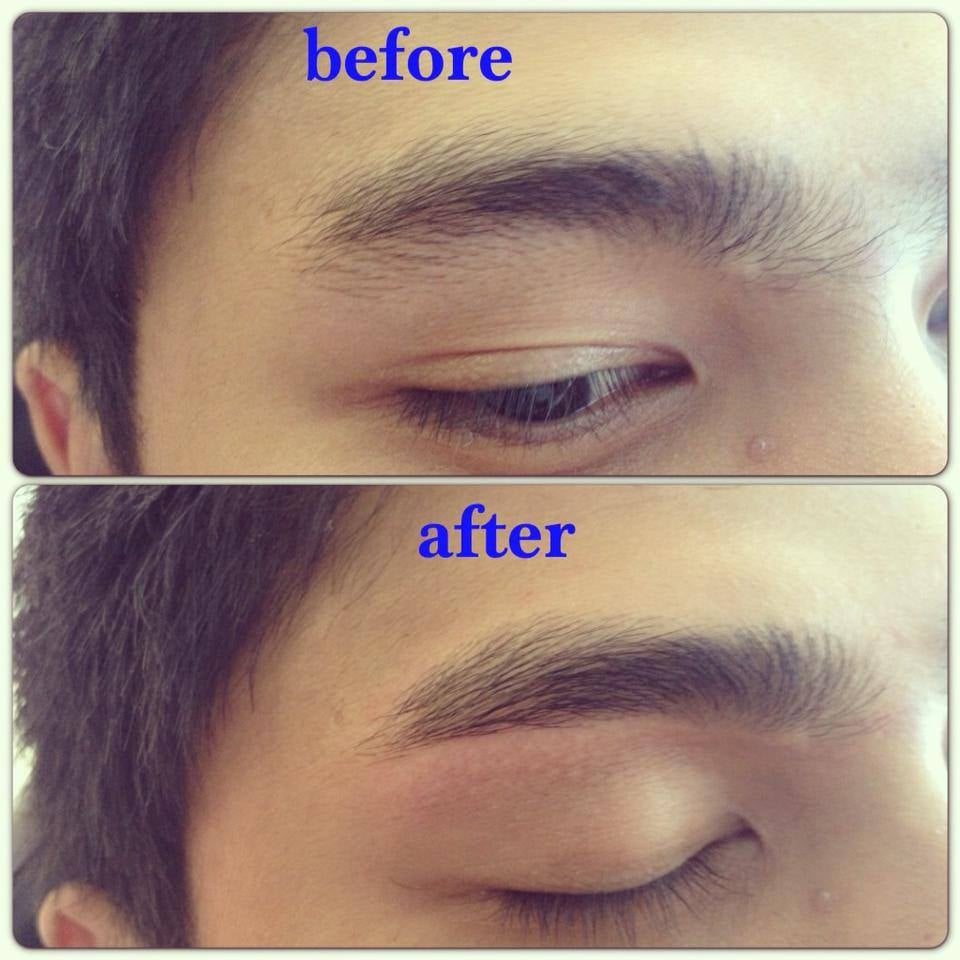 Before and After Men's eyebrows - Yelp