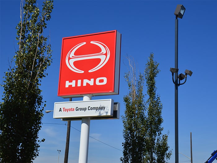 Look for the HINO sign on 184 Street at 111 Avenue  Stop by