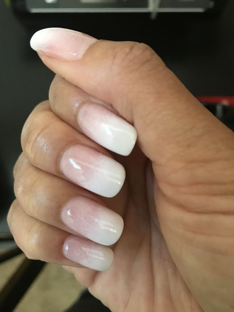 SNS Ombré nails by Richard. These are my own natural nails. - Yelp