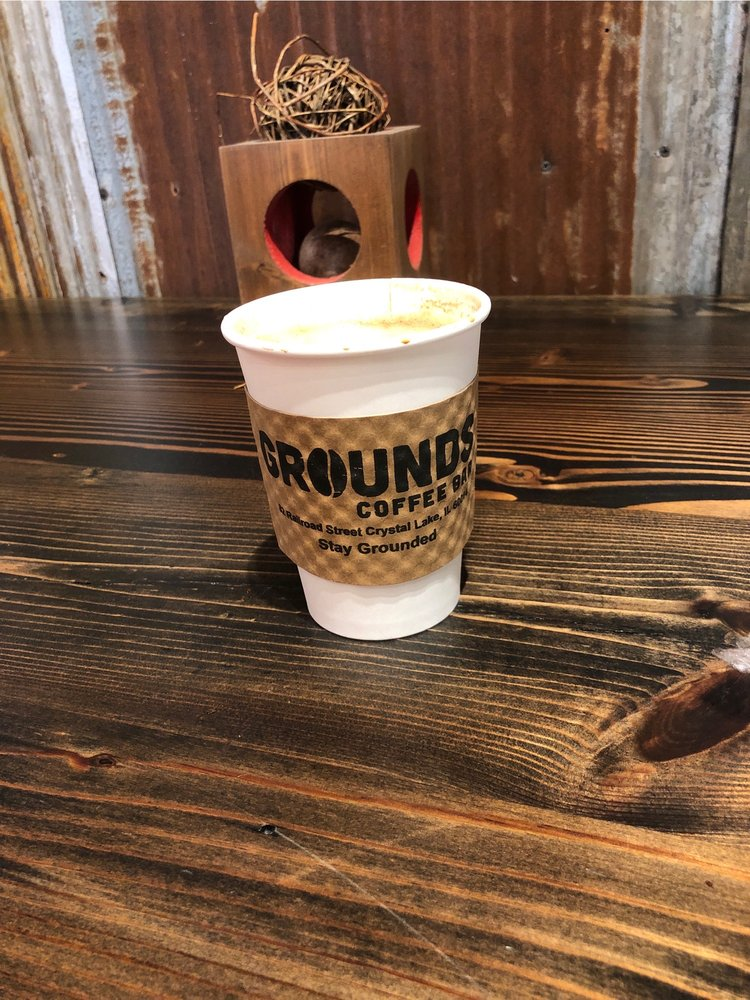 Grounds Coffee Bar: 82 Railroad St, Crystal Lake, IL