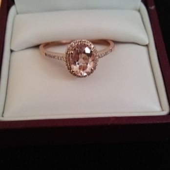 photo of helzberg diamonds escondido ca united states morganite ring with diamond - Helzberg Wedding Rings
