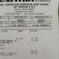 All American Chrysler Dodge Jeep Ram Of Odessa 19 Reviews Auto