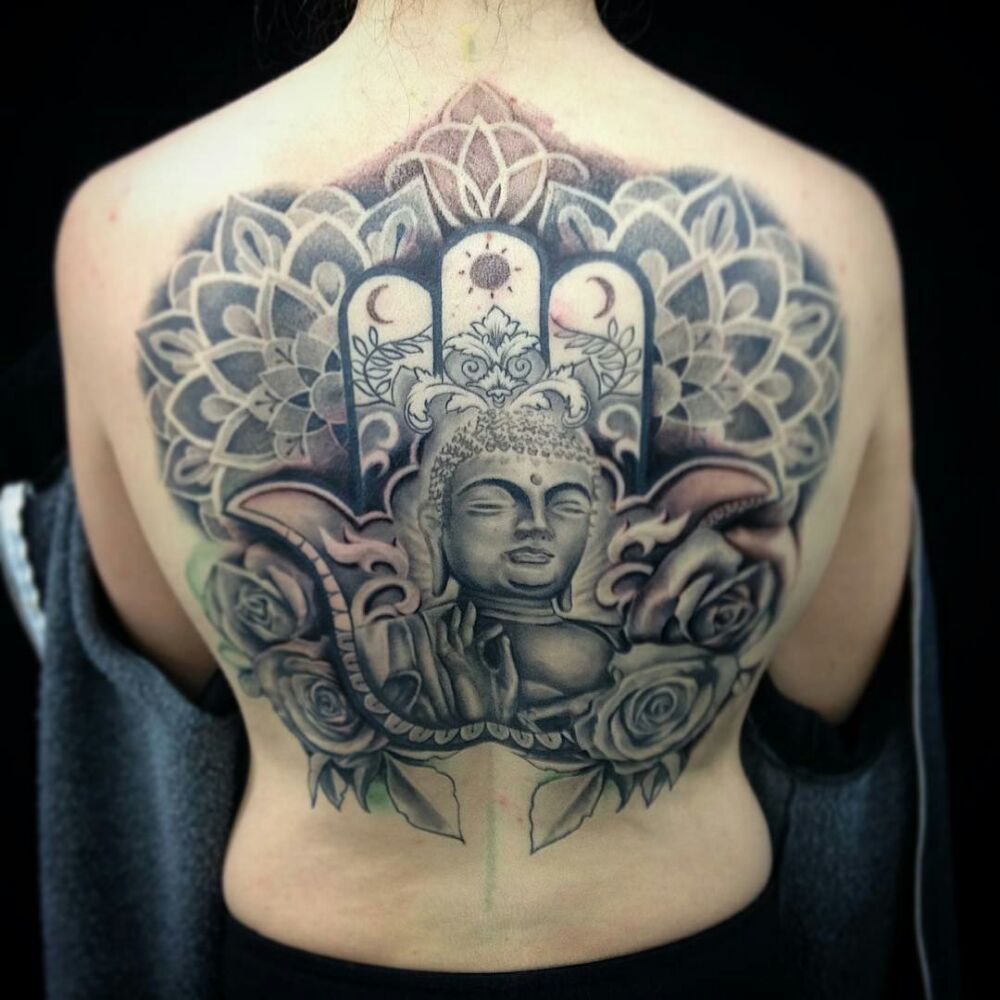 Artist lud bradley yelp for Happy buddha tattoo