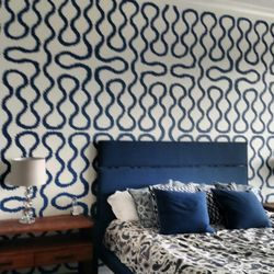 Photo Of Splat Paint   Tampa, FL, United States. Stenciled Accent Wall.