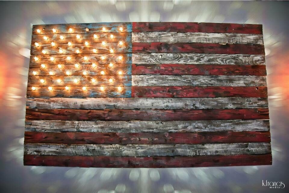 Photo of Fuller House - Hinsdale, IL, United States. Reclaimed wood  American flag - Reclaimed Wood American Flag - Yelp