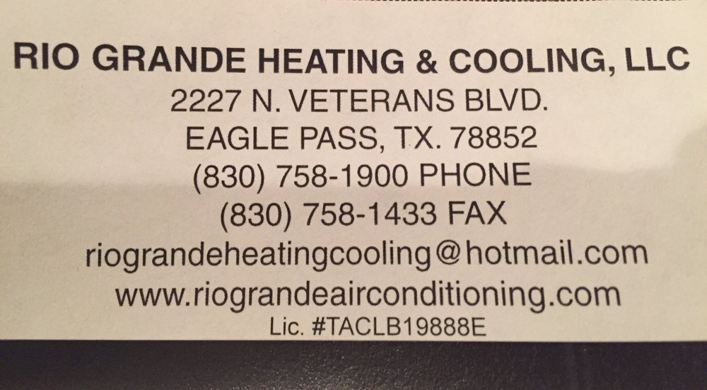 Rio Grande Heating And Cooling: Hc 2 Box 311, Eagle Pass, TX