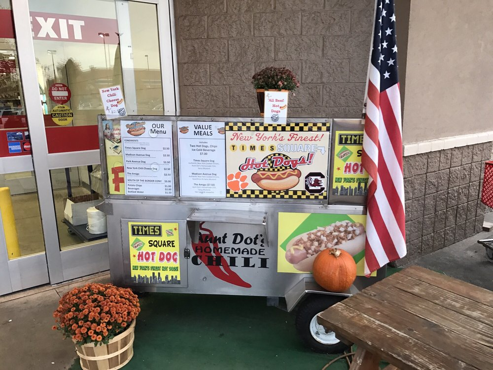 Times Square Hot Dogs: 120 E Blackstock Rd, Spartanburg, SC