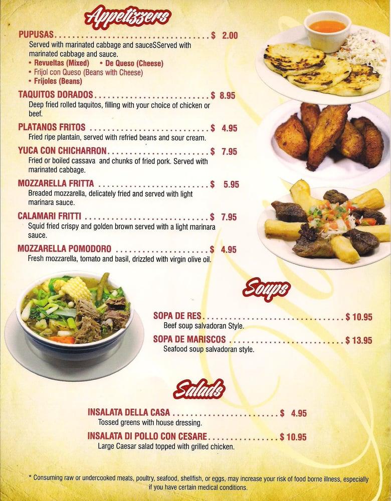 Ninos Italian Restaurant Menu