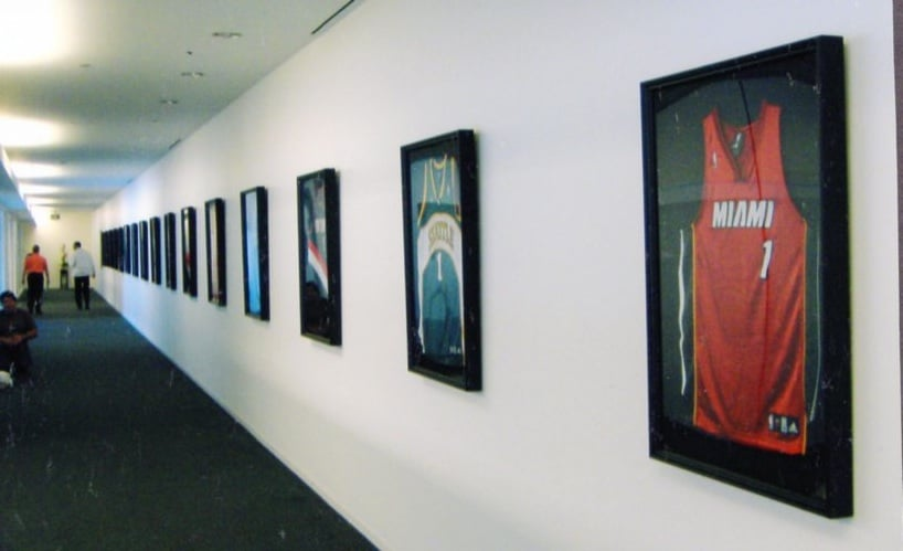 Framed & installed NBA jerseys for KIA Motors. - Yelp