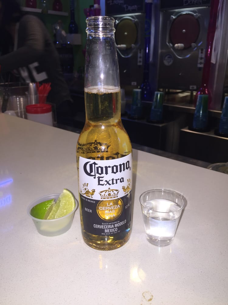 Shot of patron with a corona light back yelp photo of lime ice frozen bar las vegas nv united states shot mozeypictures Images