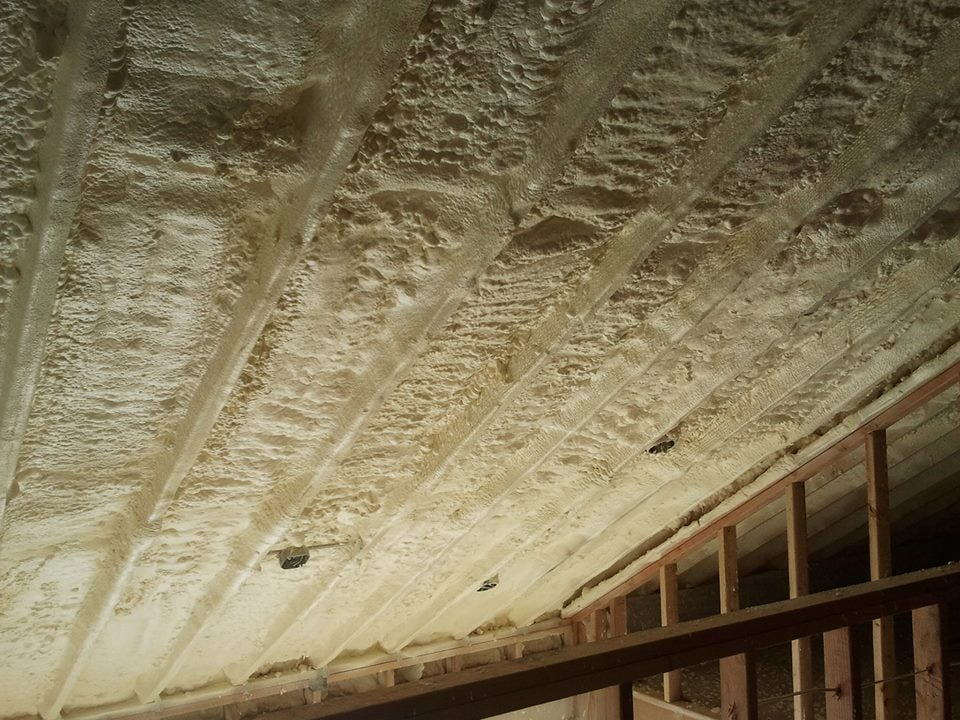 Closed Cell Spray Foam In 2x12 Roof Rafters Yelp