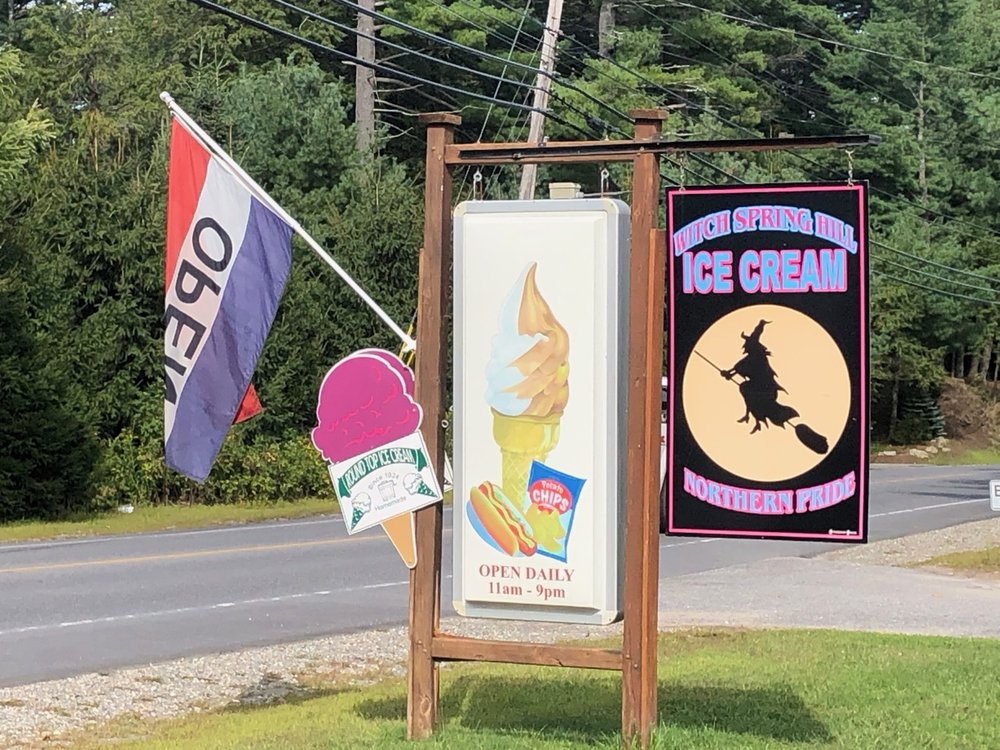 Witch Spring Hill Ice Cream: 60 State Rd, West Bath, ME