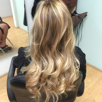 After; a light/golden blonde balayage. , Yelp