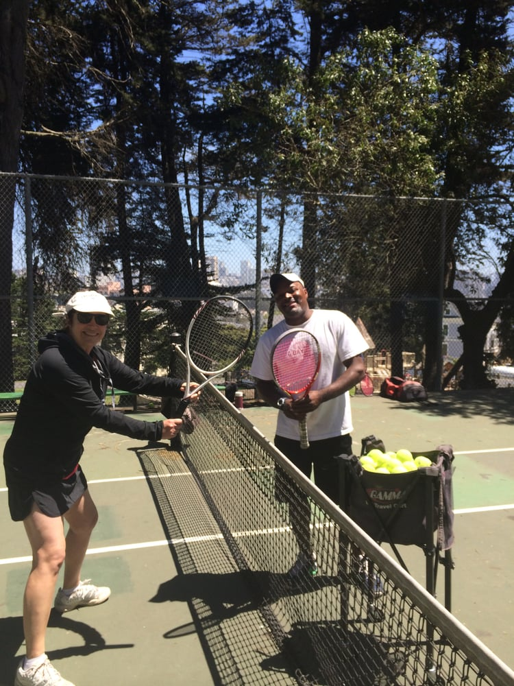 Tennis Lessons By Mcclain - San Francisco, CA, United States. Laura and coach Mcclain