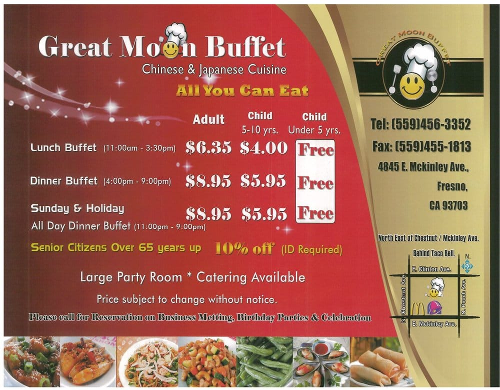 photos for great moon buffet menu yelp rh yelp com great moon buffet price range great moon buffet party tray prices