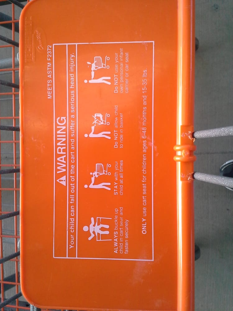 Home Depot Shopping Cart Warning Newark CA Yelp