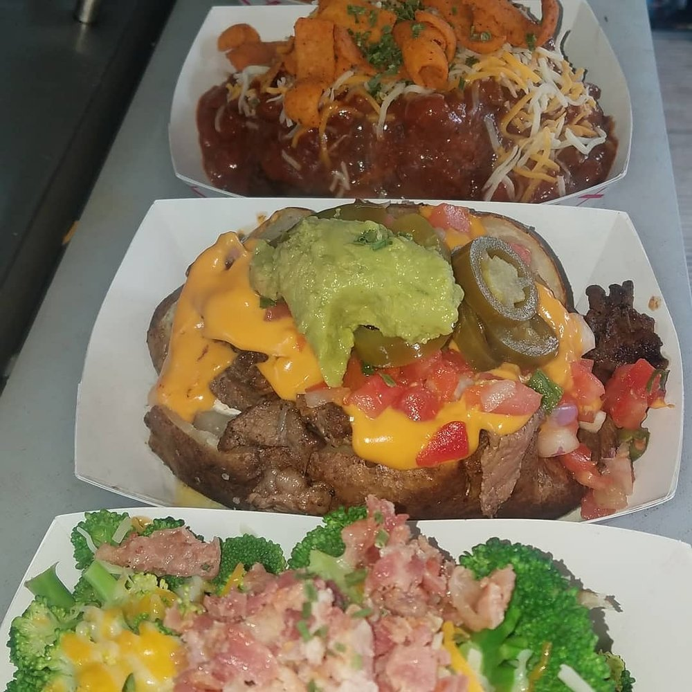 Baked and Loaded Potatoes: 134 W Washington, Stayton, OR