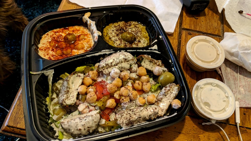 Food from Yassin's Falafel House