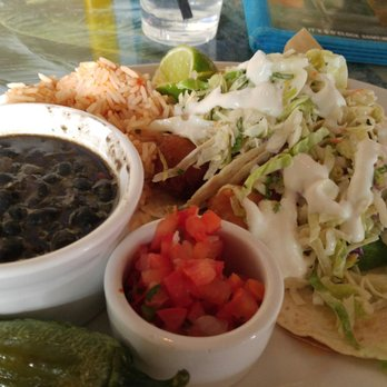... , NV, United States. Fish taco platter. Good tacos, undercooked rice