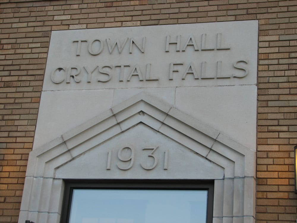 Crystal Falls Township Hall: 1384 US Hwy 2, Crystal Falls, MI