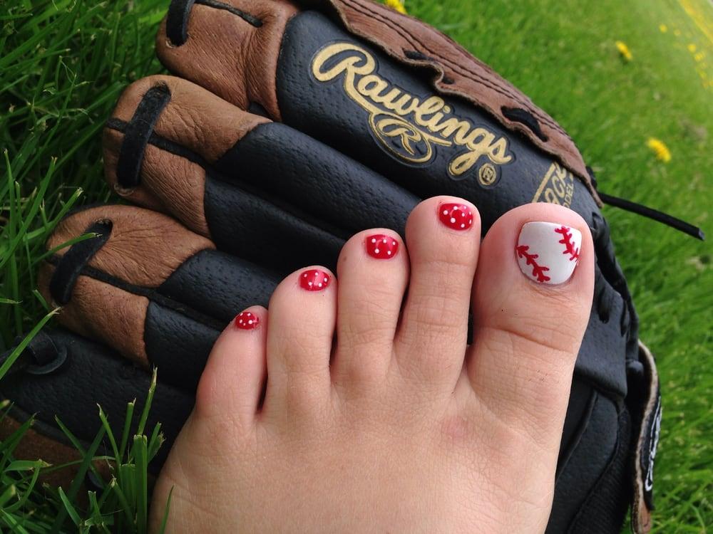 Baseball Nail Artl Polish Pedicure So Cute Yelp