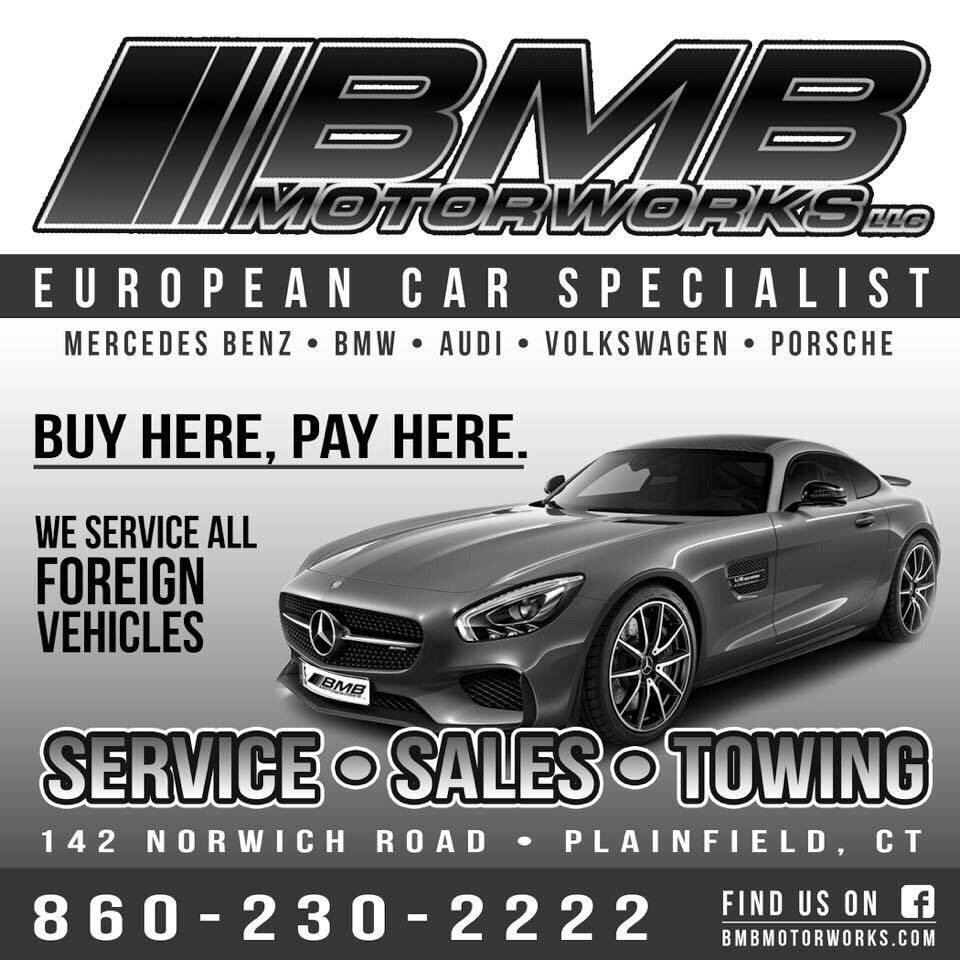 BMB Motorworks LLC: 142 Norwich Rd, Plainfield, CT