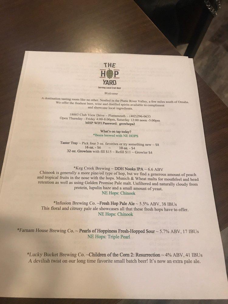 The Hop Yard: 18003 Club View Dr, Plattsmouth, NE